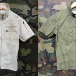 ファスナー仕様で着脱ぎしやすいアヴィレックスの半袖シャツ !! 東久留米店