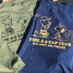 BUZZ RICKSON'S×PEANUTS      TYPE A-3 CAP CLUB  L/S tee【横田店】